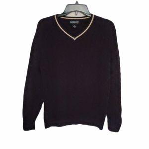 Lands' End Long Sleeve Brown Sweater Size Medium